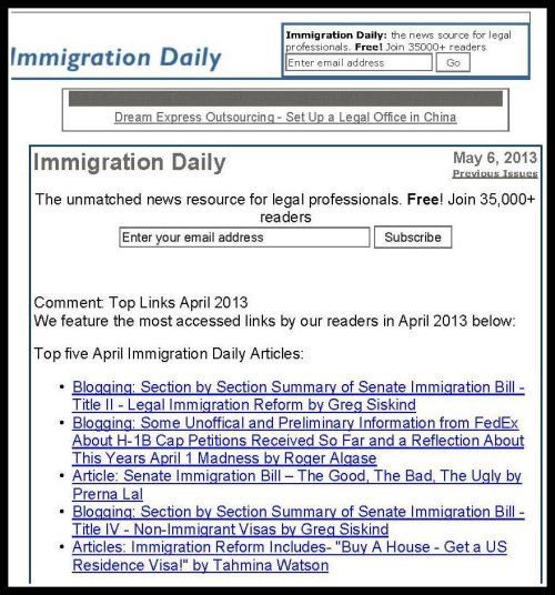 Snapshot of ILW web page from May 6, 2013.
