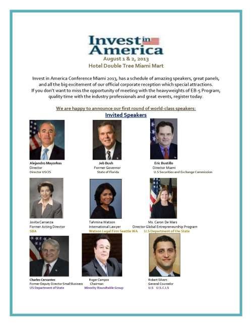 Preliminary Agenda- Invest in America